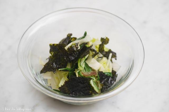 茹で野菜のナムル韓国のり和え