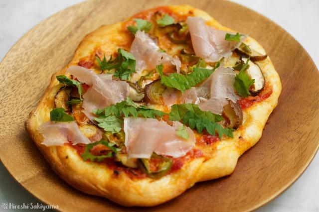 みょうがが美味しい和風ピザ