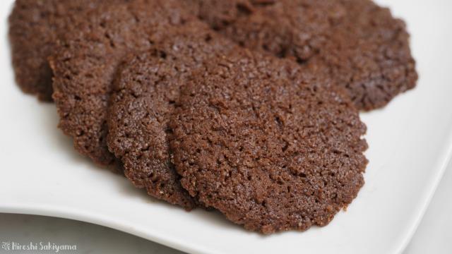 ココナッツオイルで作るココアクッキーのどアップ