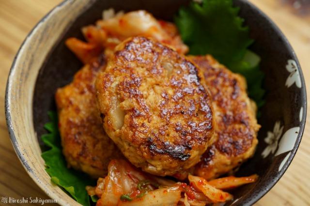 キムチ豆腐つくねのアップ