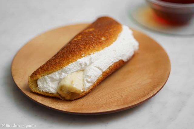 フライパンで作るバナナオムレットのアップ