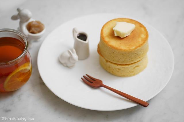 ひよこ豆の米粉パンケーキ