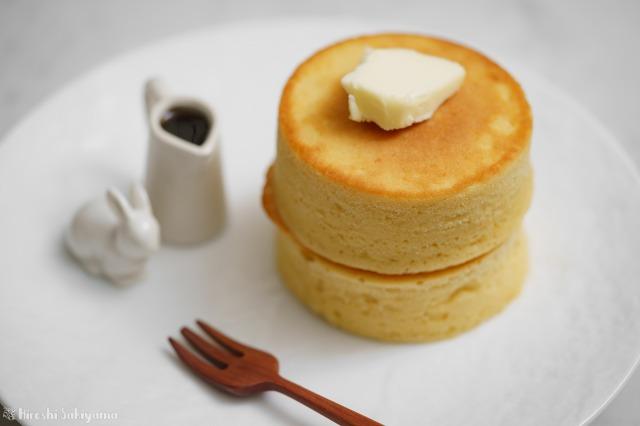 ひよこ豆の米粉パンケーキのアップ