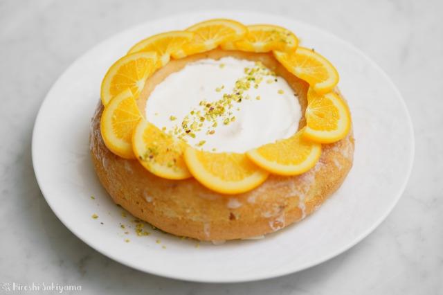オレンジのエンゼルフードケーキ