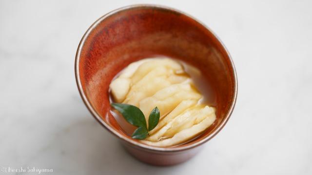 菊芋のわさび甘酢漬け