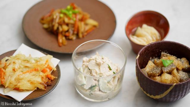 菊芋の料理5つ
