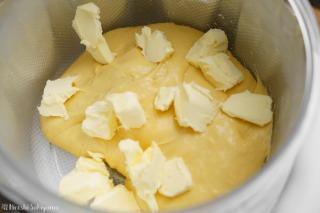 バターを加えた様子
