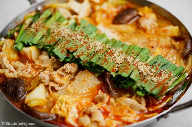 赤辛鍋のアップ