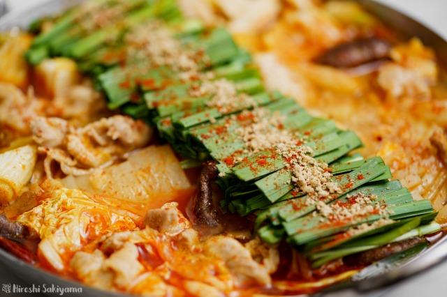 赤辛鍋のどアップ