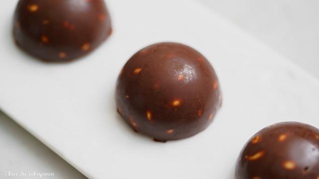 福豆チョコクランチのアップ