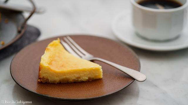 ベイクドチーズケーキの1ピース