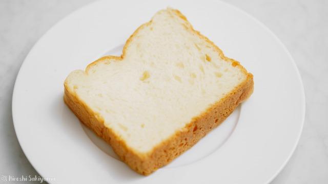 一期一会のプレーン食パンをカットした様子