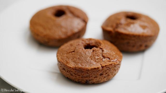 米粉チョコ焼きドーナツ