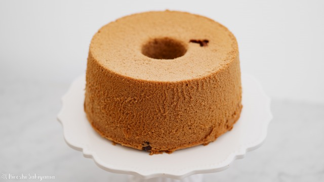 米粉チョコシフォンケーキのアップ