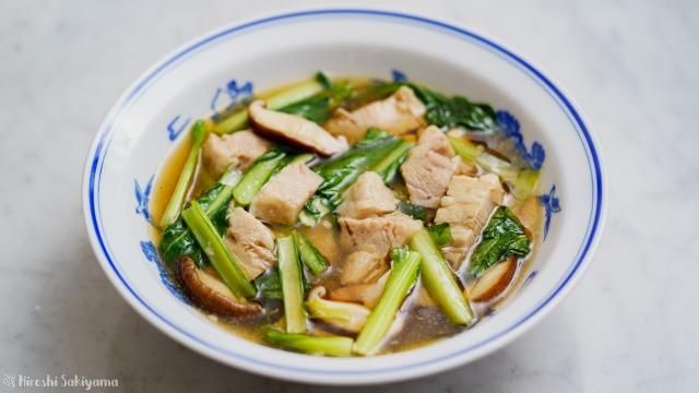 豚バラ肉と小松菜のうま煮
