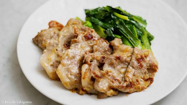豚肉のわさび味噌焼きのアップ