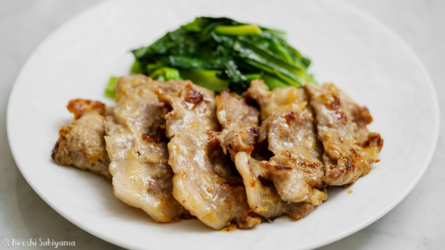 豚肉のわさび味噌焼き