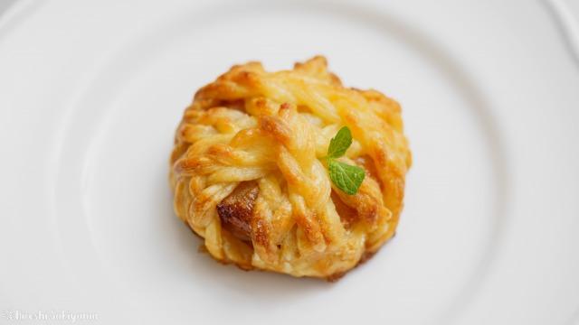 りんご・冷凍パイシート・砂糖だけで作るアップルパイ、毛玉