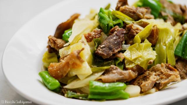 牛すじとたっぷり野菜の味噌煮込みのアップ