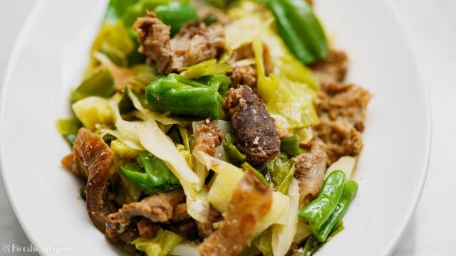 牛すじとたっぷり野菜の味噌煮込みのどアップ