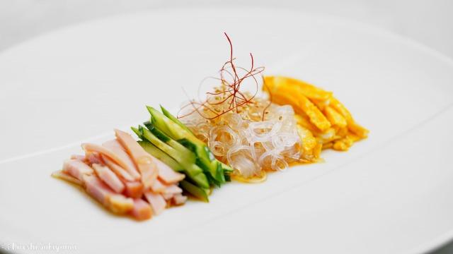 春雨サラダ、拌三絲(バンサンスー)、きれいに並べたバージョン