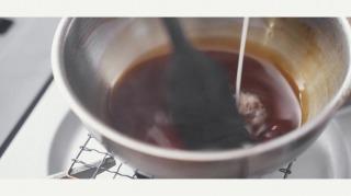 水溶き片栗粉を加える