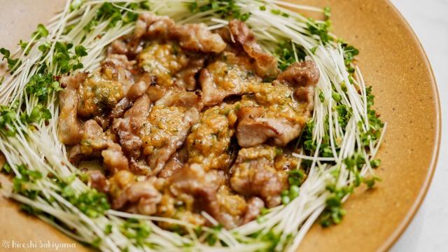 豚肉の青唐辛子味噌焼き