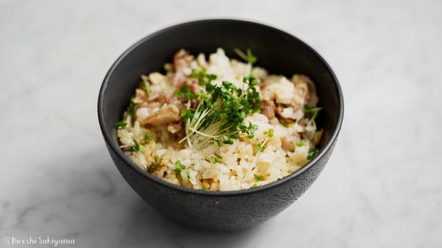 豚肉と青唐辛子味噌の混ぜご飯