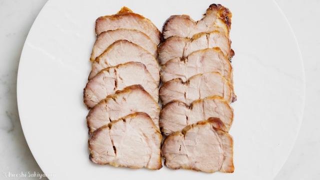 オーブンで焼く焼き豚・チャーシューを上から