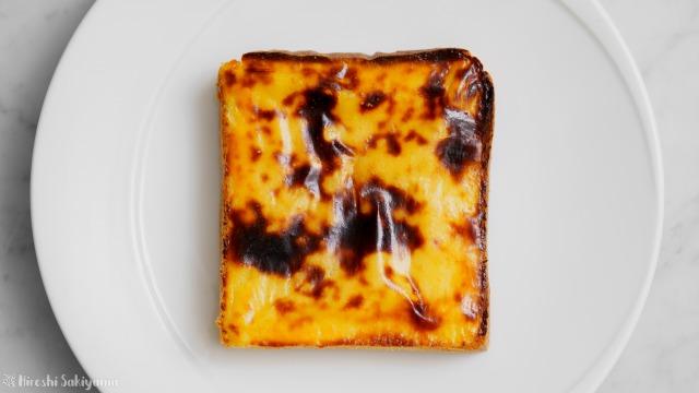 【卵黄なし】濃厚美味しいスイートポテトを塗って焼いたトースト