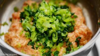 小松菜を加える