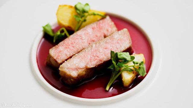 ステーキ赤ワインソース