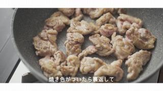 薄切り肉を香ばしく焼く