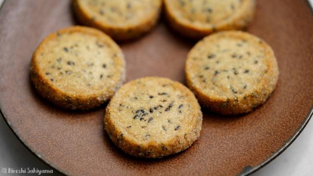 黒ごまディアマンクッキー、アップ