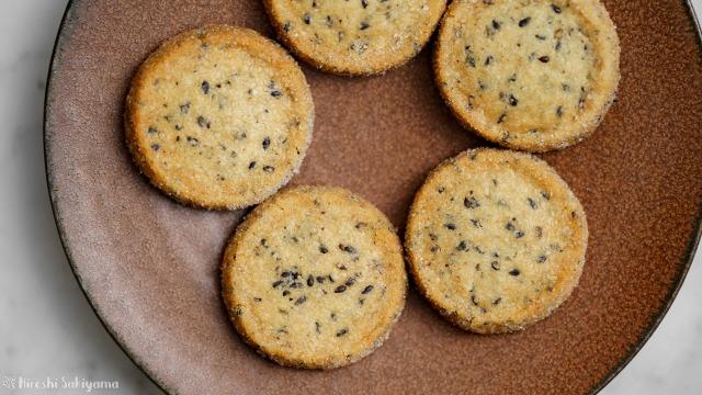 黒ごまディアマンクッキー、上からアップ