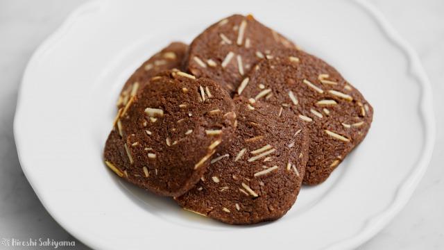 アーモンドチョコクッキー、サブレショコラダマンド、アップ