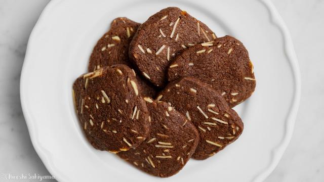 アーモンドチョコクッキー、サブレショコラダマンド、上から