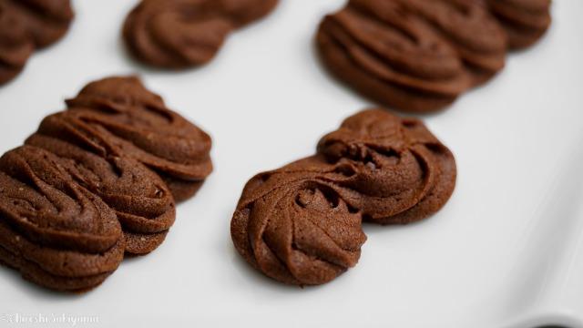 絞り出しチョコクッキー、S字