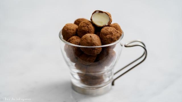 マカダミアナッツチョコレート、断面