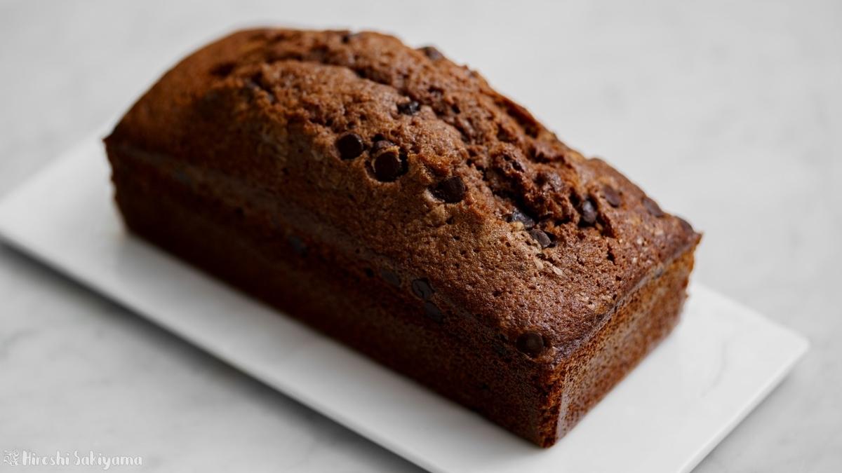 溶かしバターで作るチョコパウンドケーキ(ケーク・オ・ショコラ)