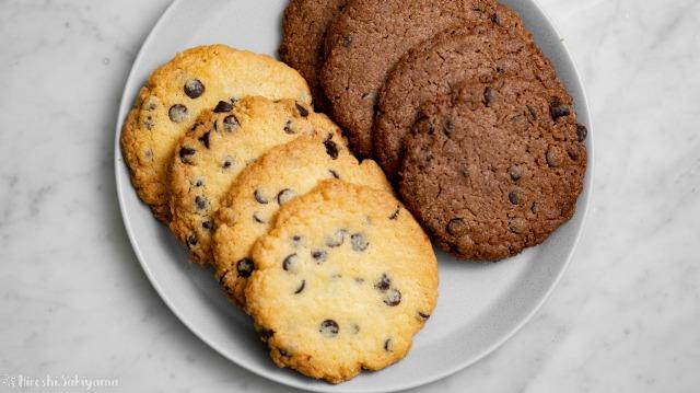 チョコチップドロップクッキー、上から