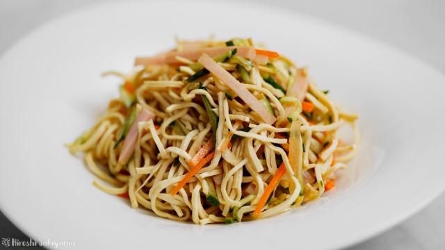 豆腐干絲の中華サラダ、アップ