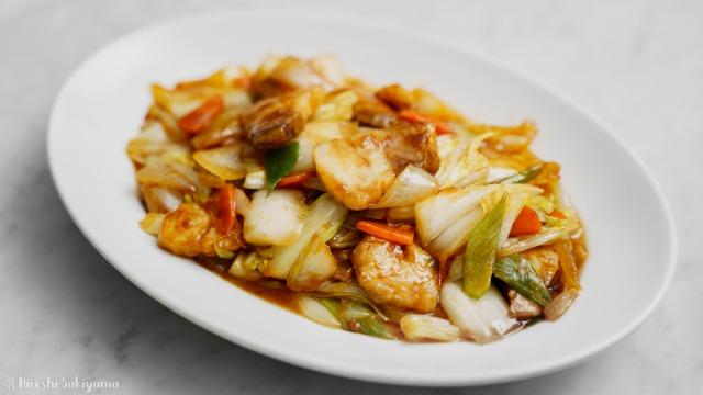 白菜で作る回鍋肉(ホイコーロー)