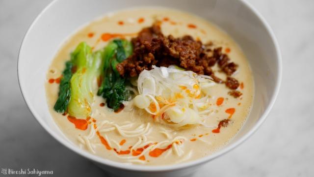 豆腐干絲の担々麺、アップ