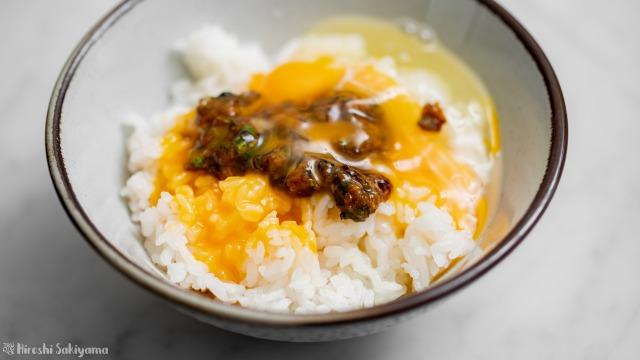 ふきのとう味噌の卵かけご飯