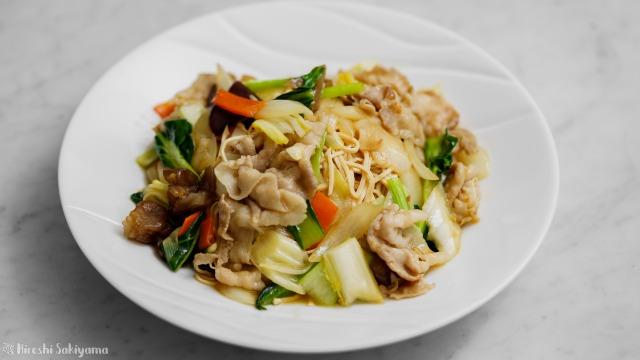 豆腐干絲の中華風焼きそば
