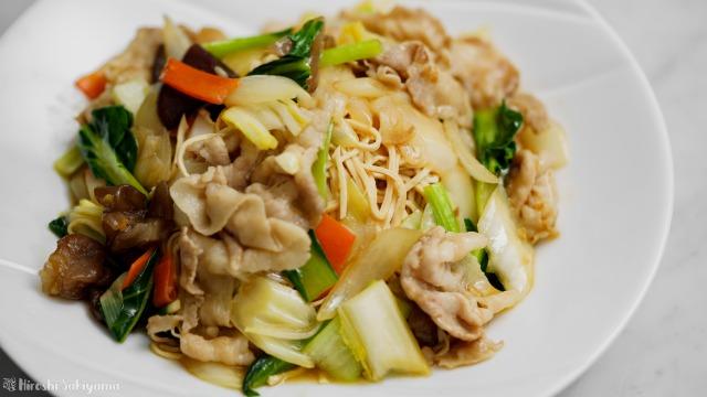 豆腐干絲の中華風焼きそば、アップ