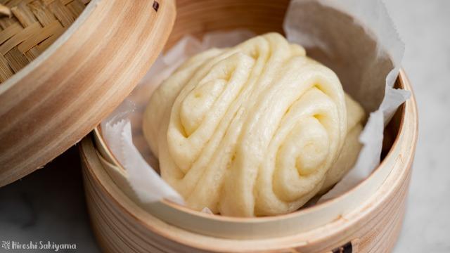 花巻き(中華蒸しパン)、アップ