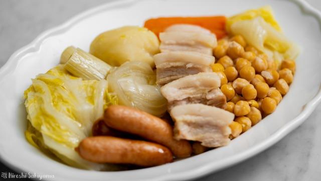 ひよこ豆・白菜・ウインナーのコシード(スペイン風煮込み)、具のみ