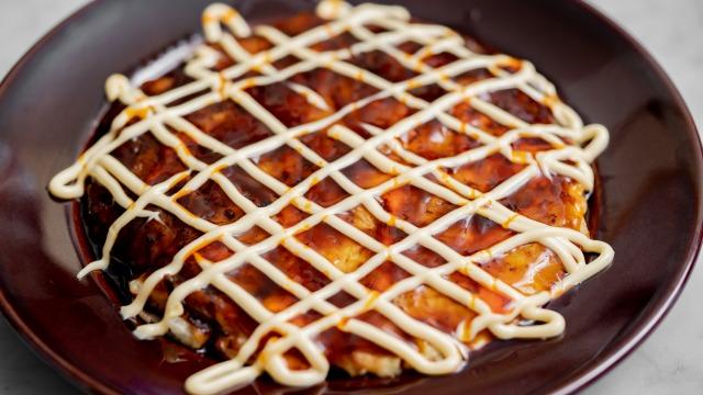 白菜の中華風お好み焼き、アップ